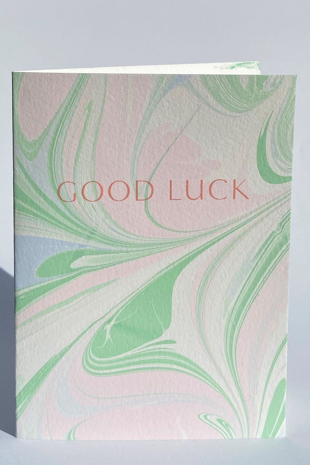 Hand Marbled Good Luck Card Card Heather Evelyn