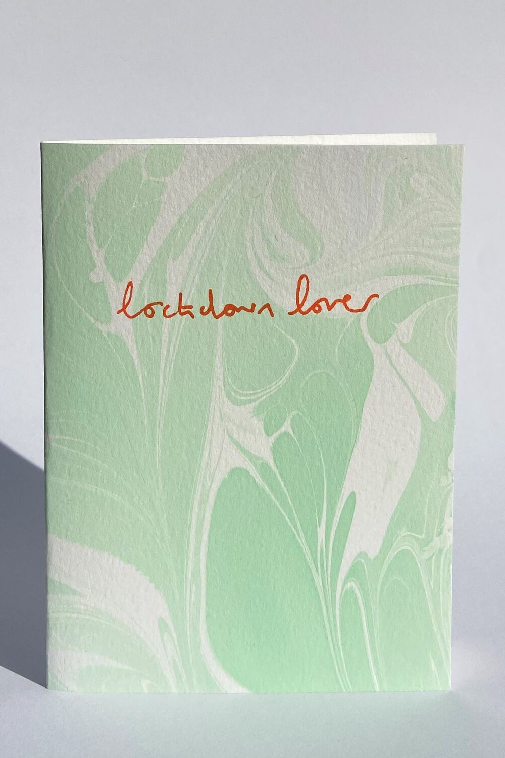 Hand Marbled Lockdown Lover Card Card Heather Evelyn