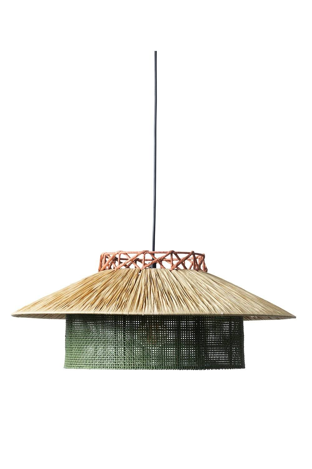 Kyoto Ceiling Pendant Light - Olive and Natural Homewares Jore Copenhagen