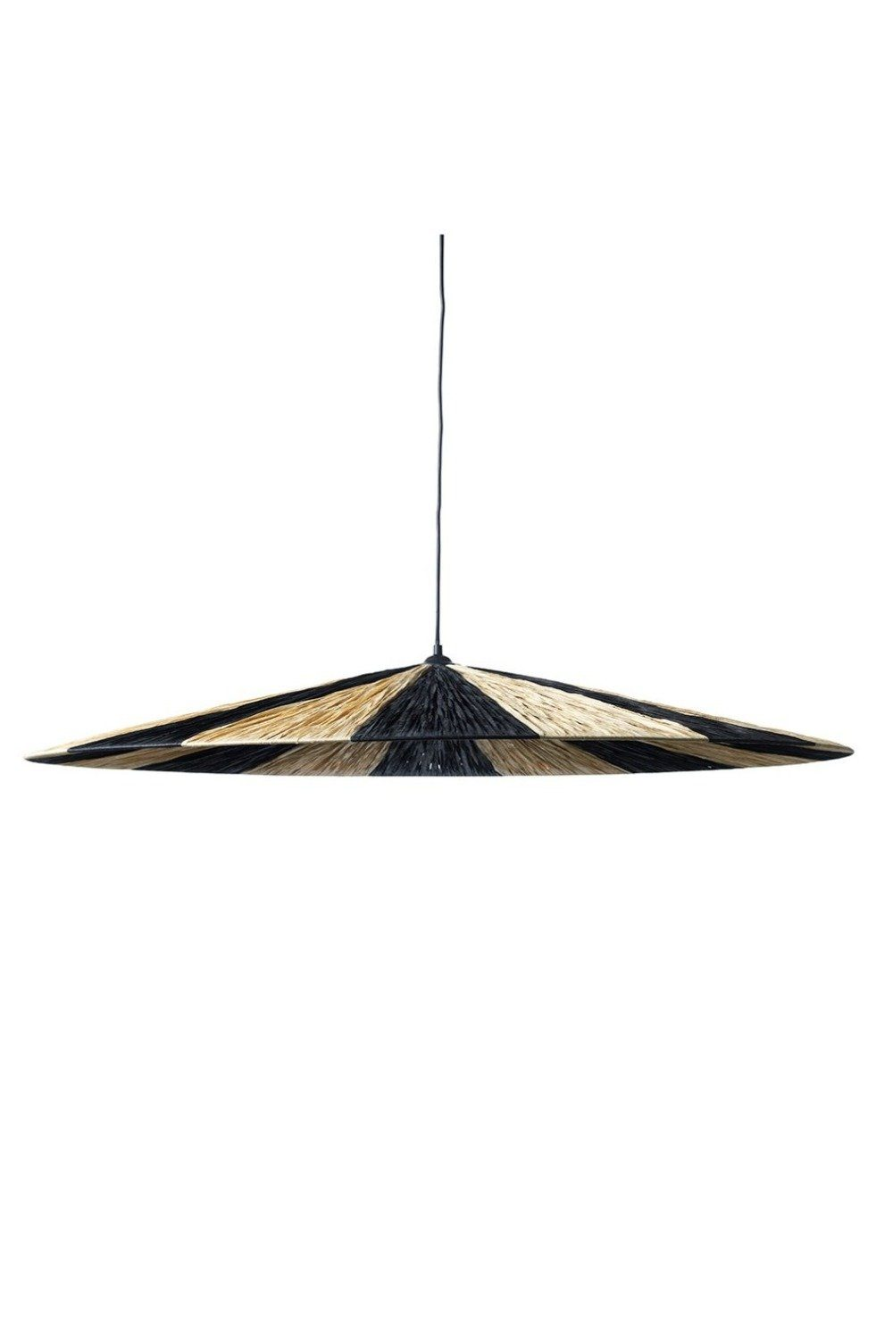 Large Parasol Ceiling Pendant Light - Charcoal and Natural Homewares Jore Copenhagen