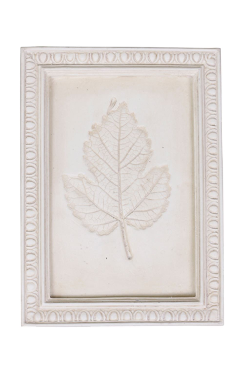 Leaf Relief Plaster Artwork - Small Artwork Blume