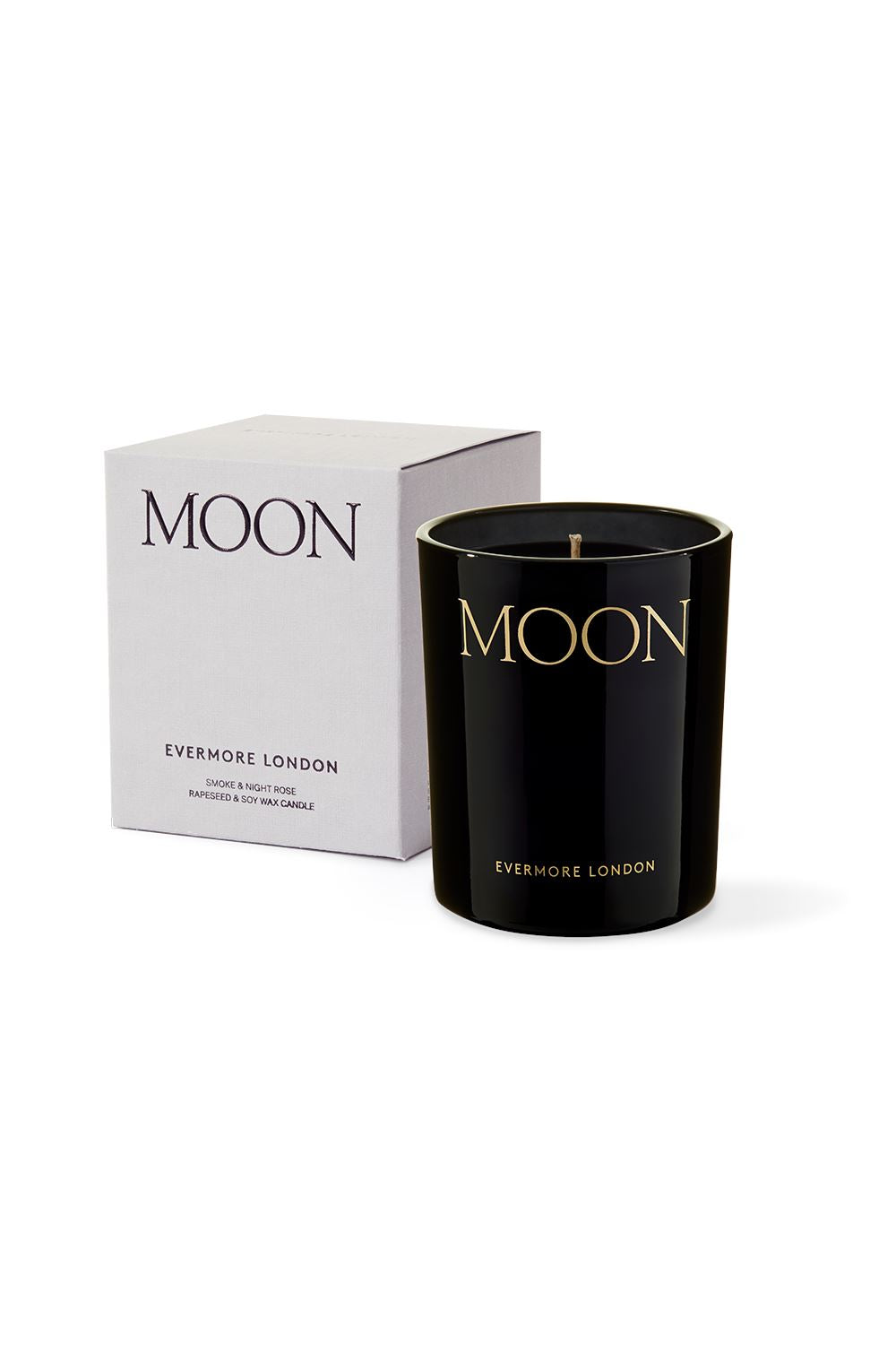 Moon Scented Candle - Smoke & Night Rose Candles Evermore