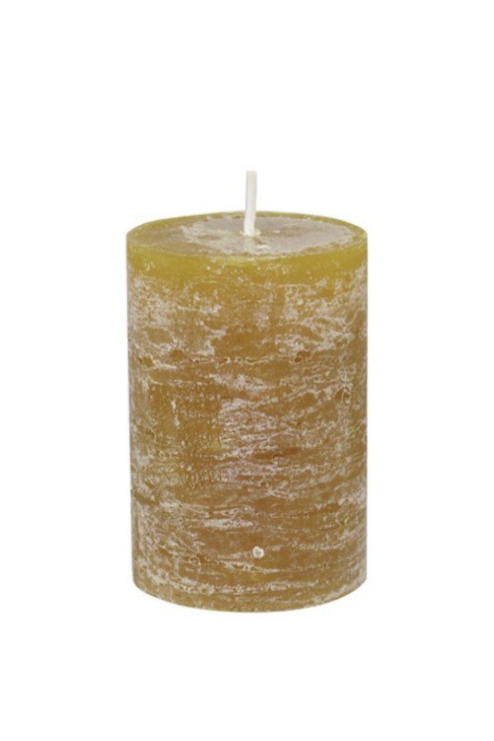 Rustic Pillar Candle - Mustard Candles & Fragrance Blume 10x7cm