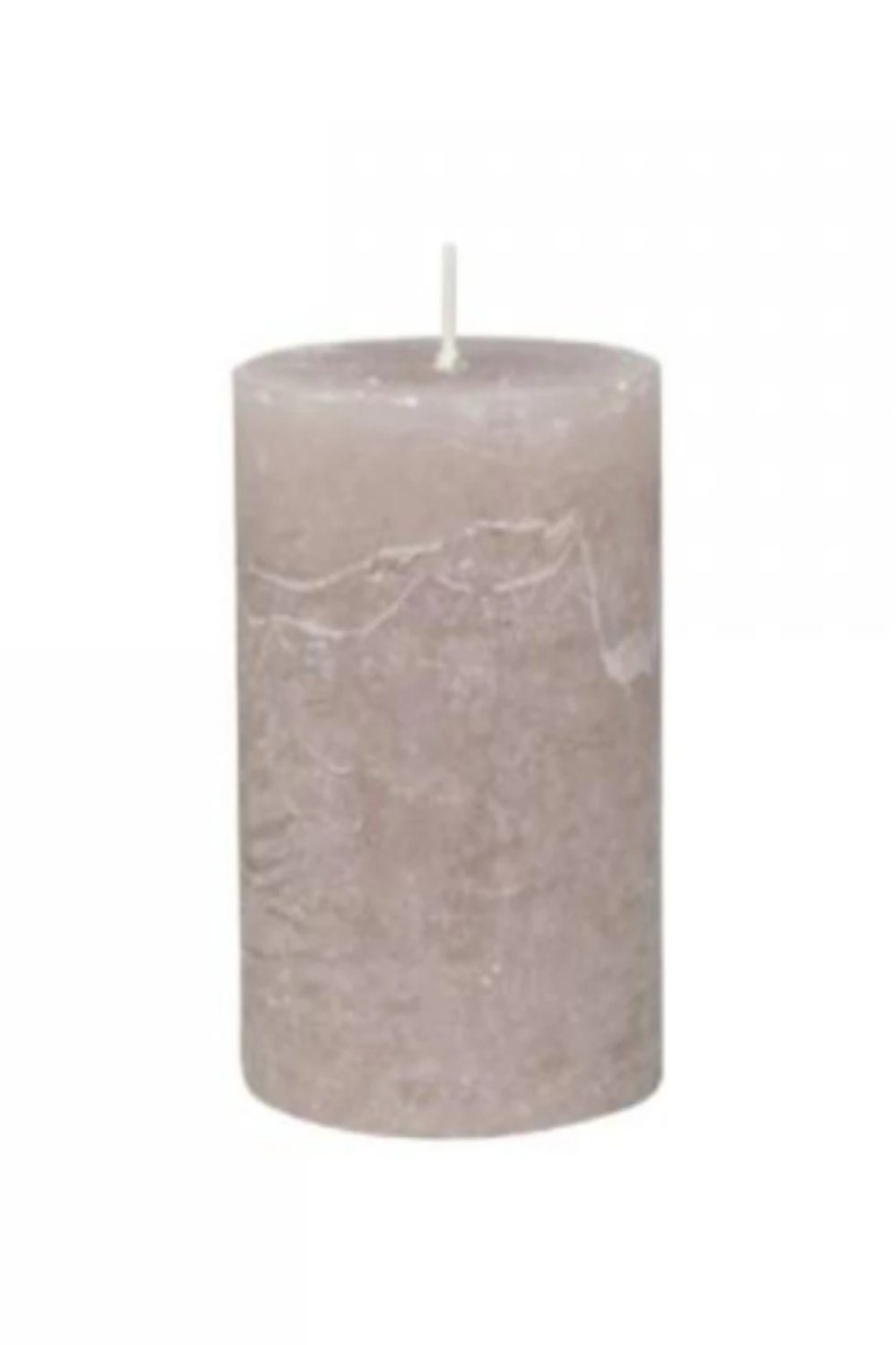Rustic Pillar Candle - Taupe Candles & Fragrance Blume 10x7cm