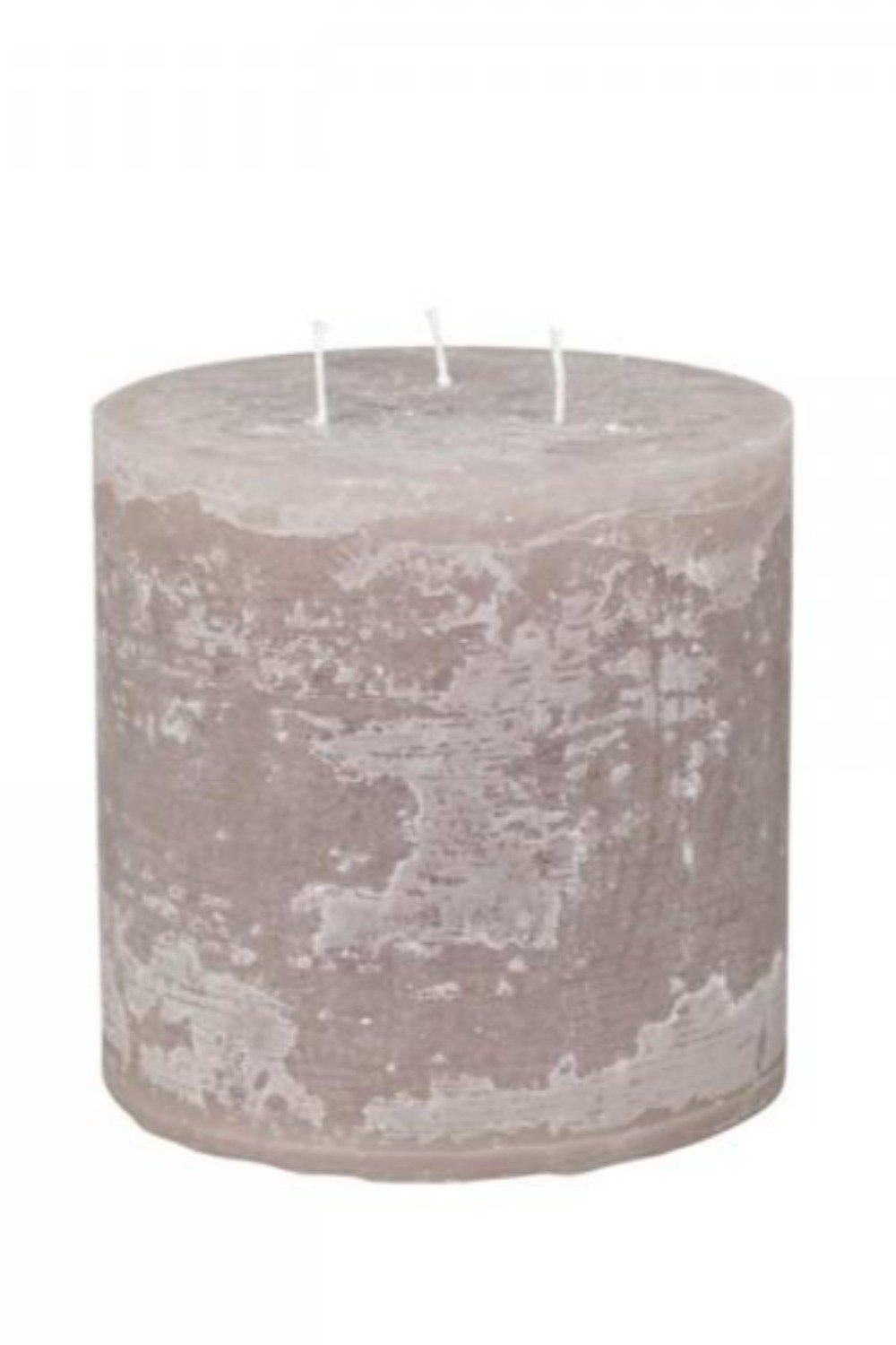 Rustic Pillar Candle - Taupe Candles & Fragrance Blume 15x15cm