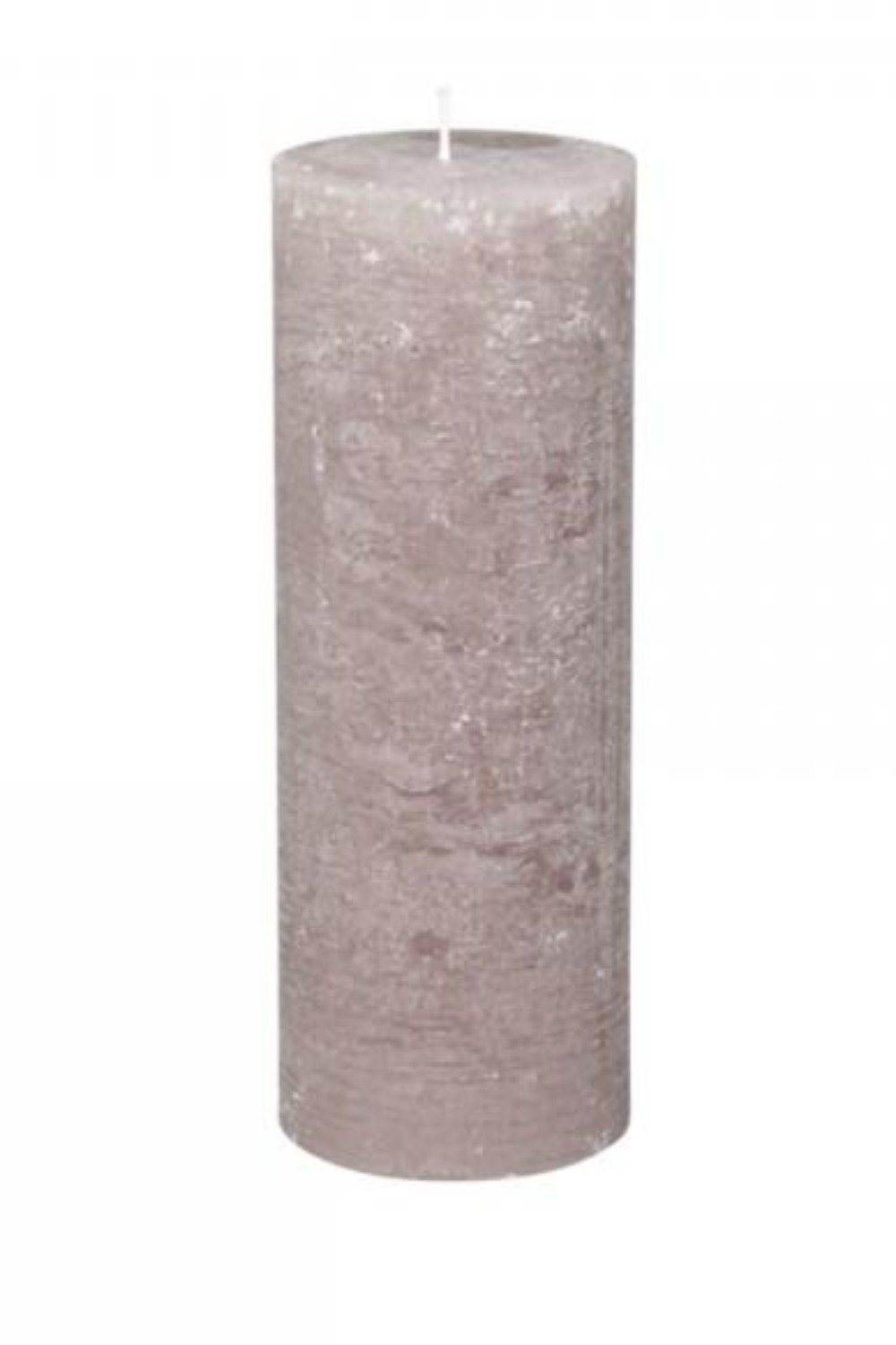Rustic Pillar Candle - Taupe Candles & Fragrance Blume 25x10cm