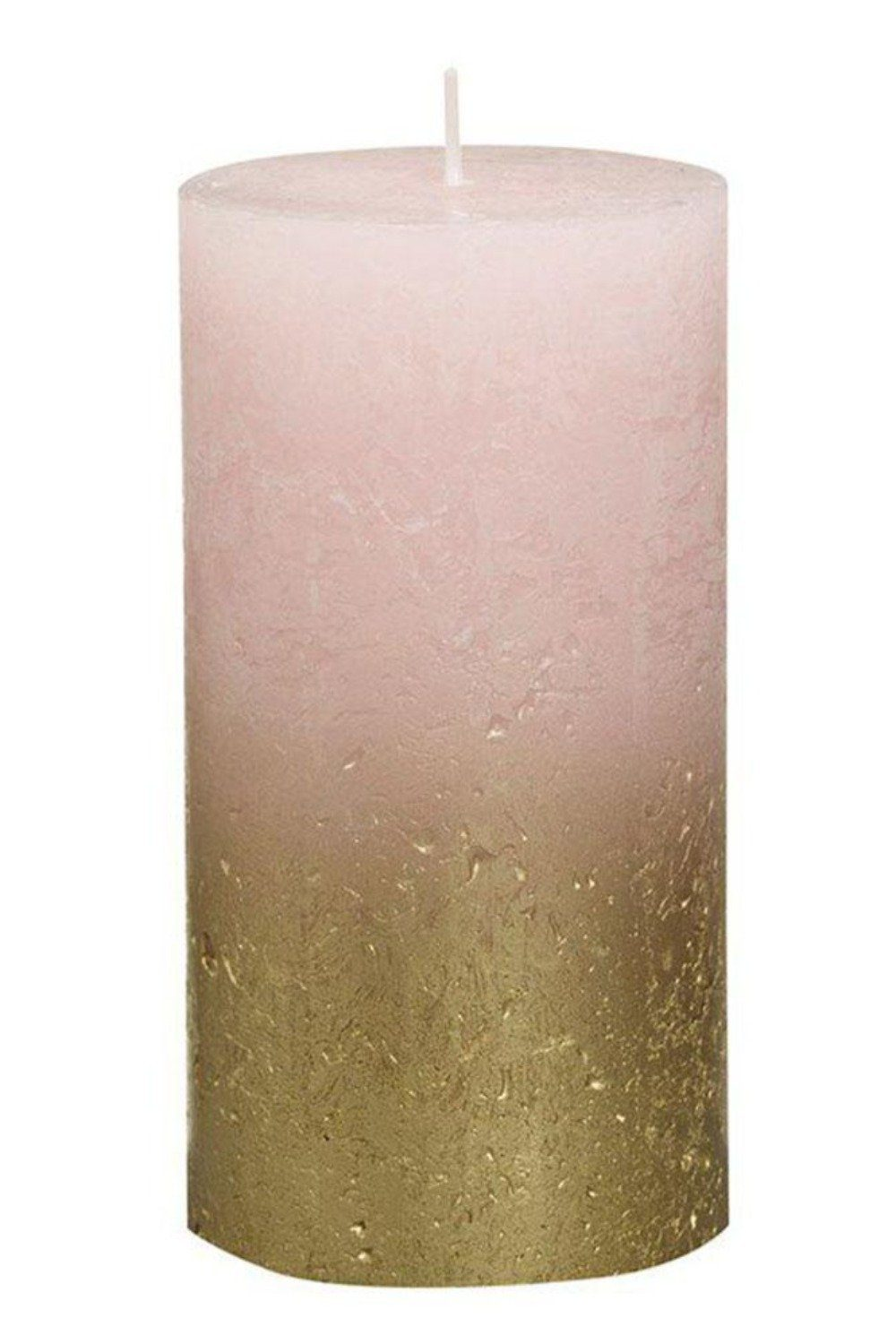 Rustic Pillar Candles - Light Pink and Gold Candles & Fragrance Blume Tall