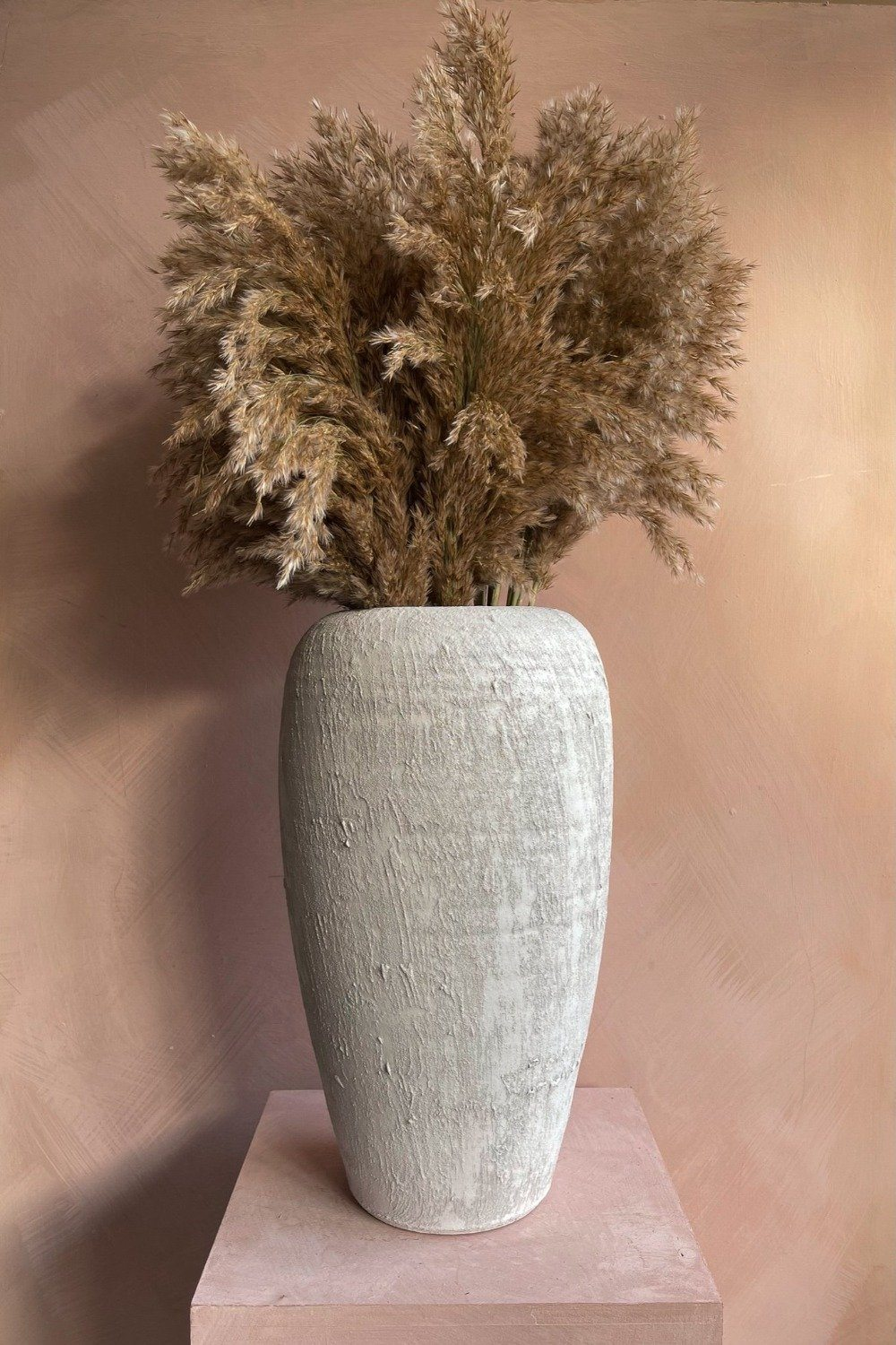 Tall Rustic Vase - White Homewares Blume
