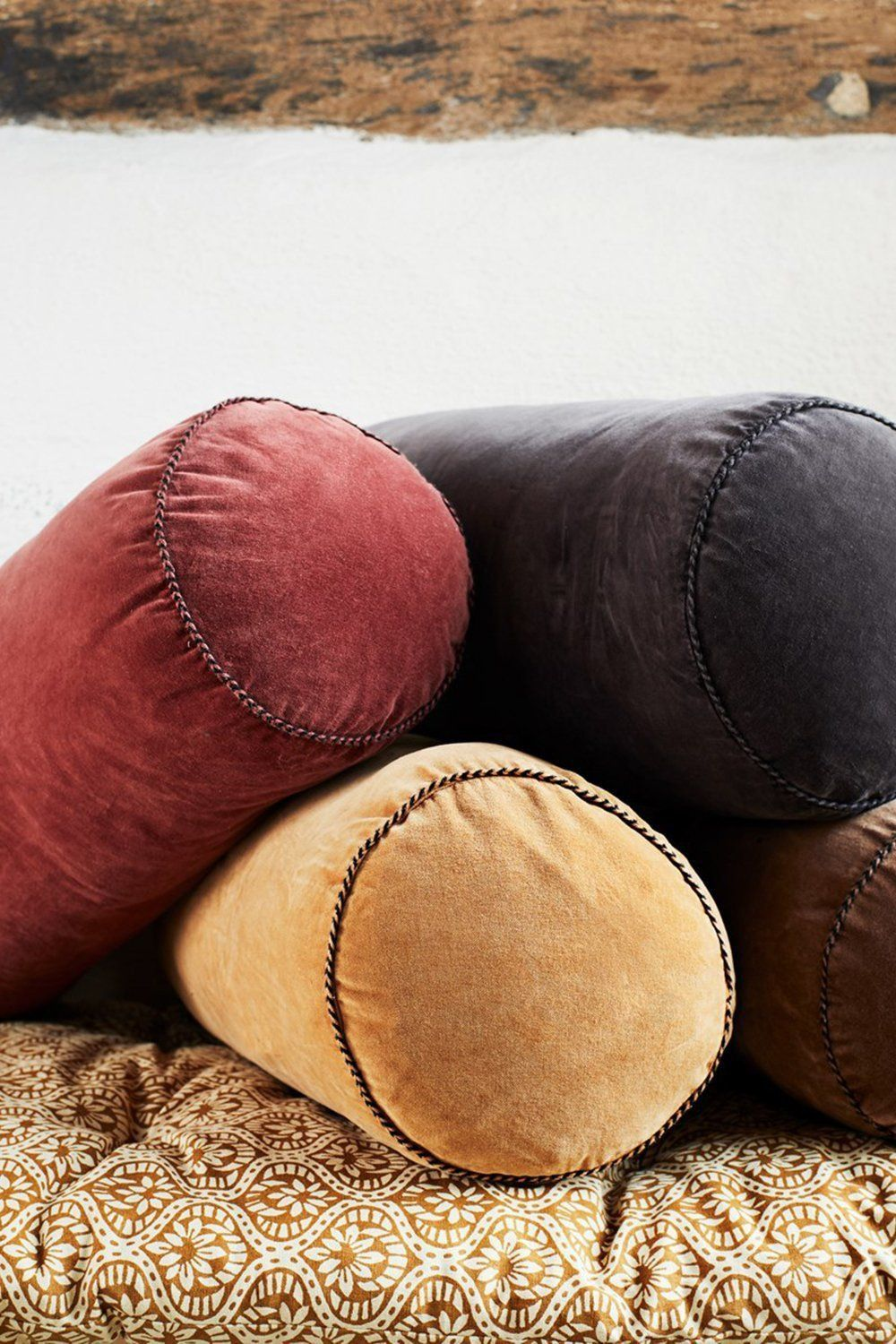 Velvet Bolster Cushion Soft Furnishings Madam Stoltz