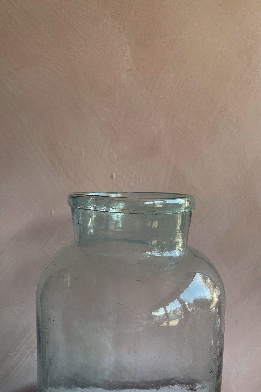 Vintage Medium Glass Vase Vintage Blume