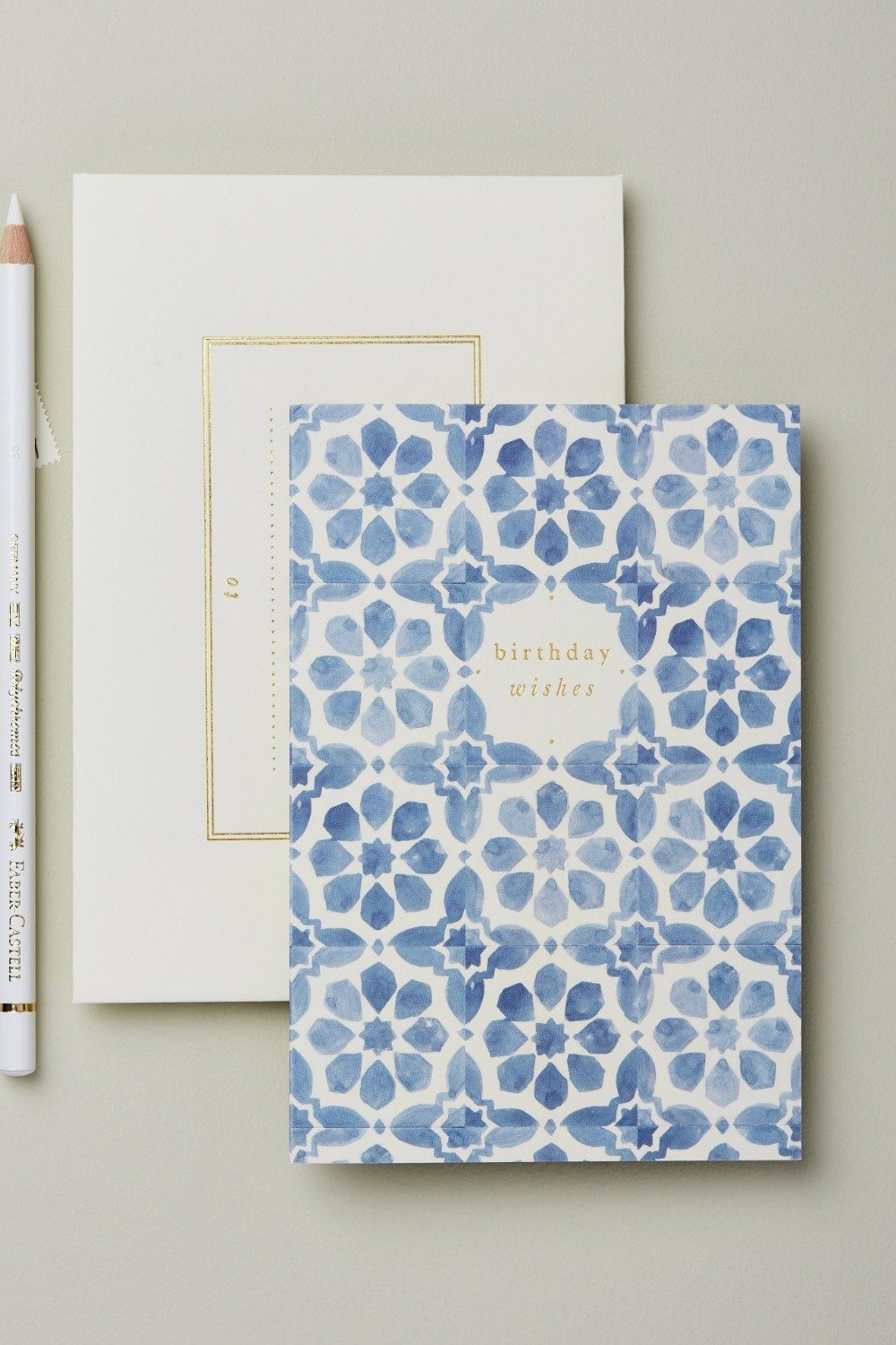 Wanderlust Card - Blue Tile Birthday Wishes Gifts & Stationery Wanderlust