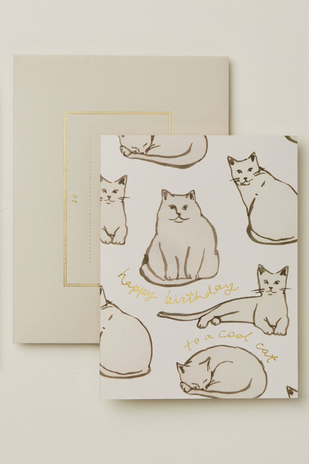 Wanderlust Card - Feline Happy Birthday to a Cool Cat Gifts & Stationery Wanderlust