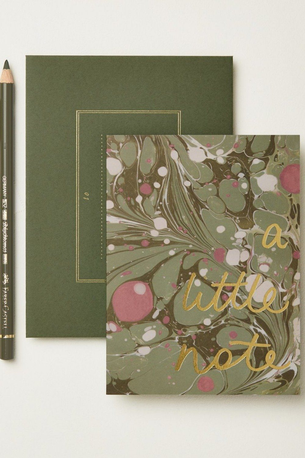 Wanderlust Card - Green Marble A Little Note Gifts & Stationery Wanderlust