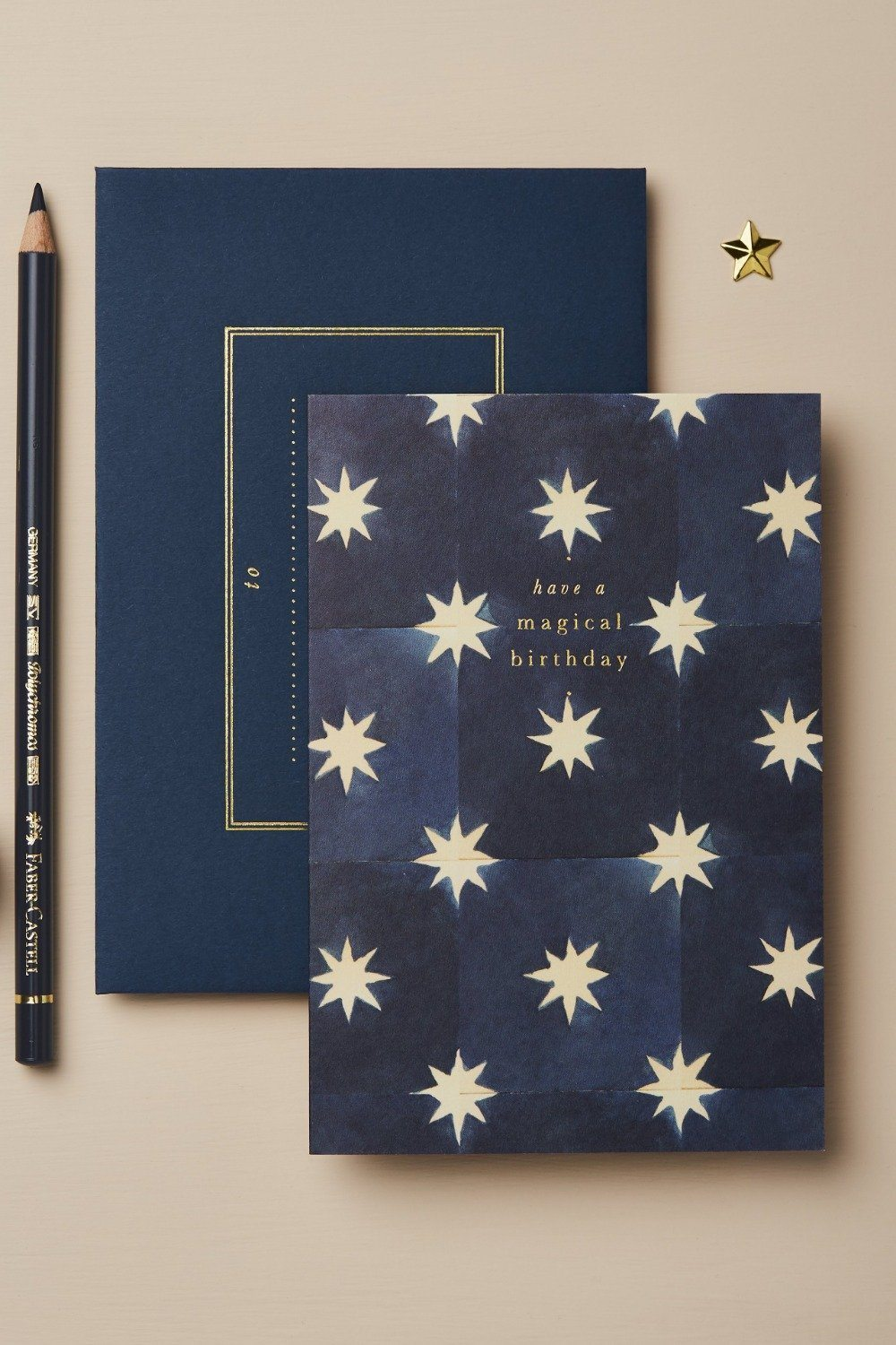 Wanderlust Card - Navy Stars Magical Birthday Gifts & Stationery Wanderlust