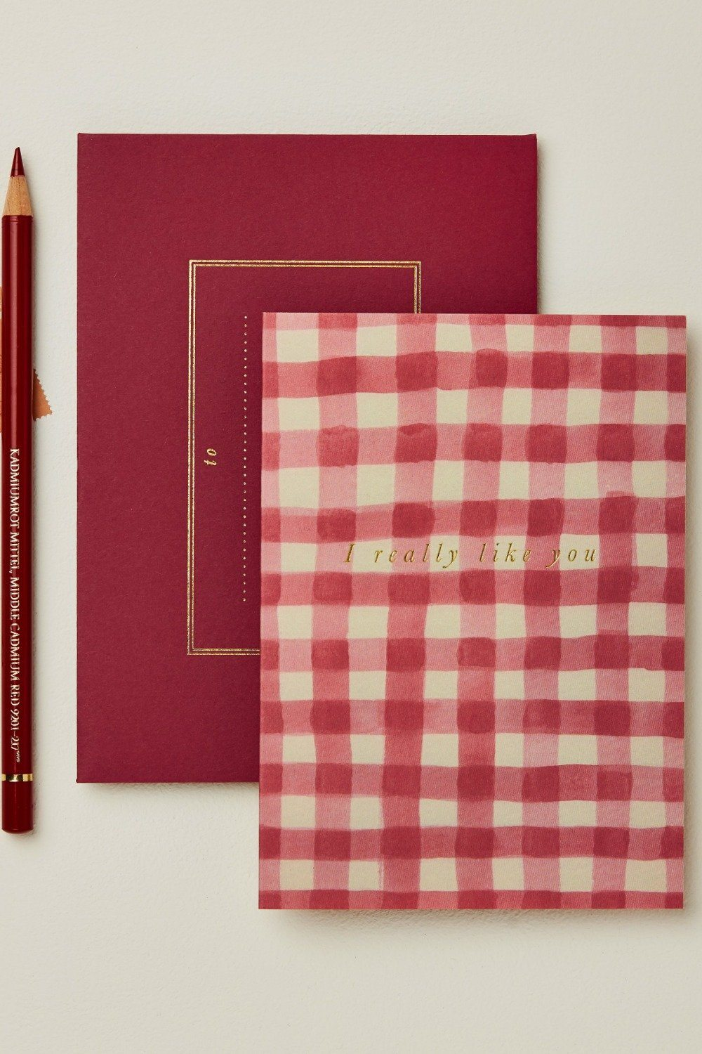 Wanderlust Card - Red Gingham I Really Like You Gifts & Stationery Wanderlust