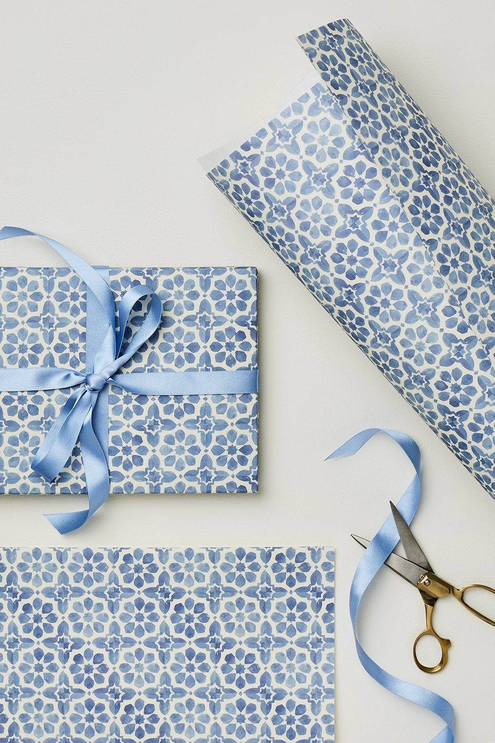 Wanderlust Paper - Gift Wrap Gifts & Stationery Wanderlust Paper Blue Tiles