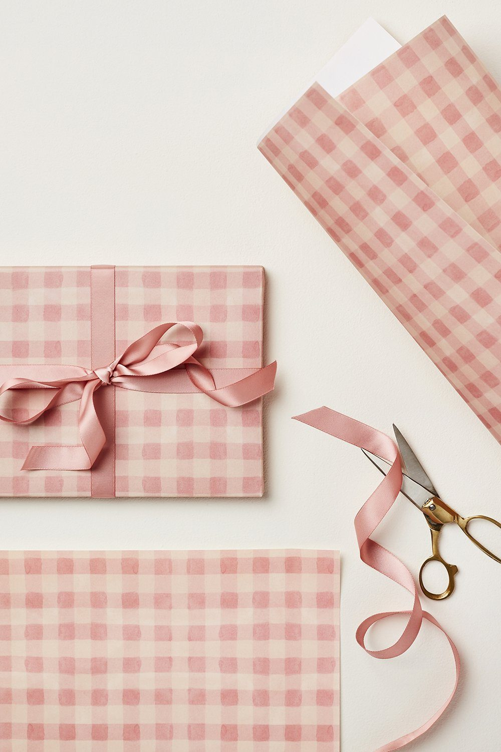 Wanderlust Paper - Gift Wrap Gifts & Stationery Wanderlust Paper Pink Gingham