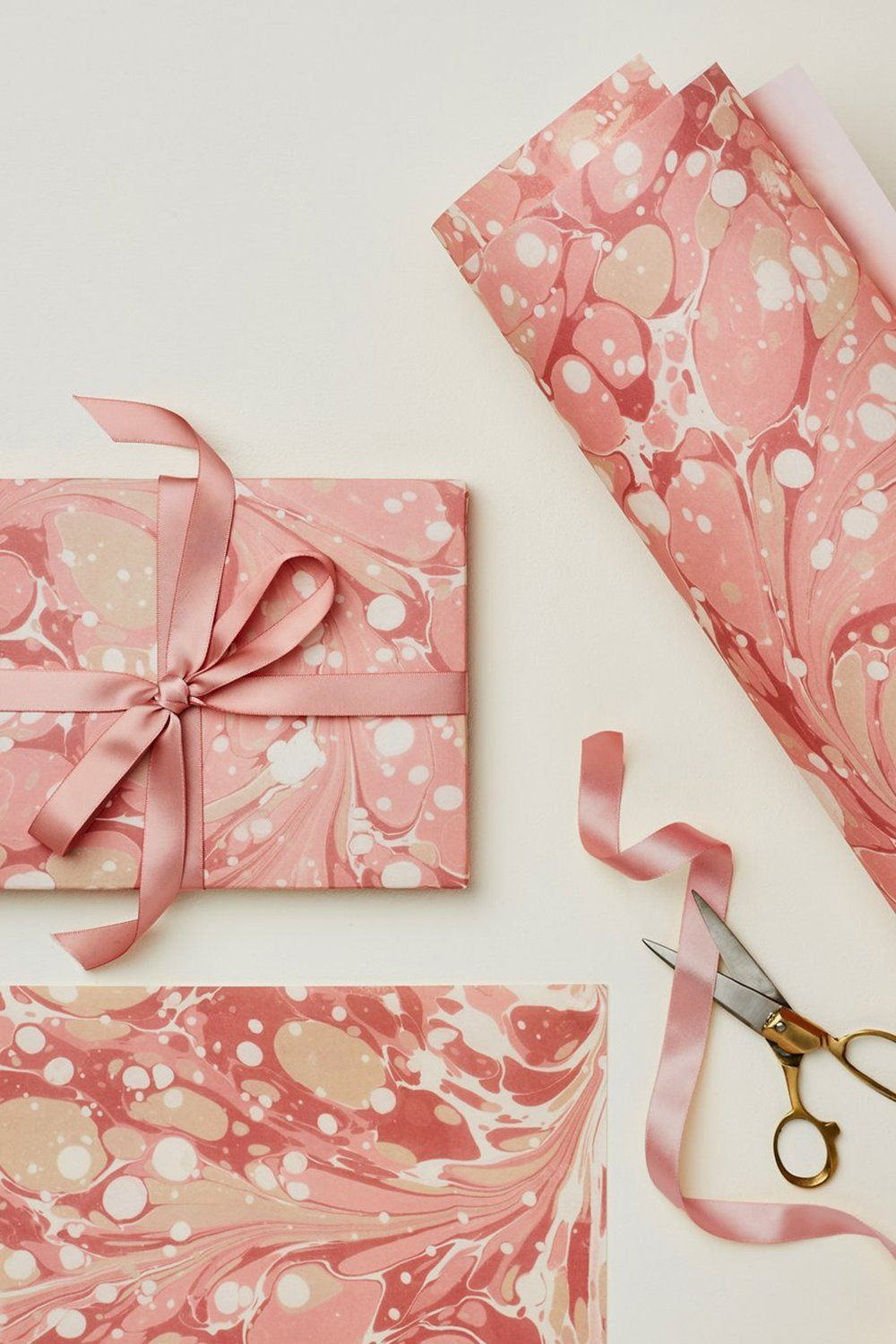 Wanderlust Paper - Gift Wrap Gifts & Stationery Wanderlust Paper Pink Marble