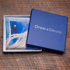 'Battle Of Britain' luxury silk pocket square in its Otway & Orford gift box