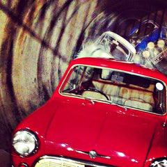 'The Italian Job' sewer chase display at the Coventry Transport Museum