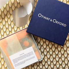 Spitfire silk pocket square by Otway & Orford, Lone Fighter, in its complimentary gift box. Made & hand-sewn in England in collaboration with artist Richard Knight