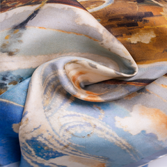 'Battle of Britain' luxury silk pocket square by Otway & Orford, swirled for abstract look