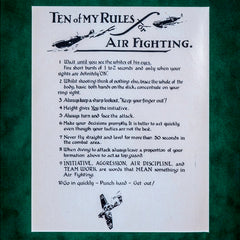 'Sailor' Malan's 'Ten of My Rules for Air Fighting'