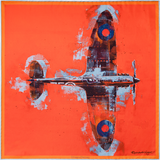 Spitfire silk pocket square by Otway & Orford, 'Lone Fighter'