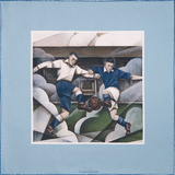 Vintage football silk pocket square by Otway & Orford, 'The Beautiful Game'