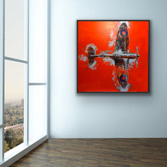 'Lone Fighter' by artist Richard Knight framed and hung