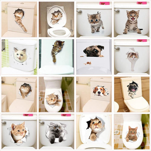 Toilet Stickers Thema Dieren - KOOPNET
