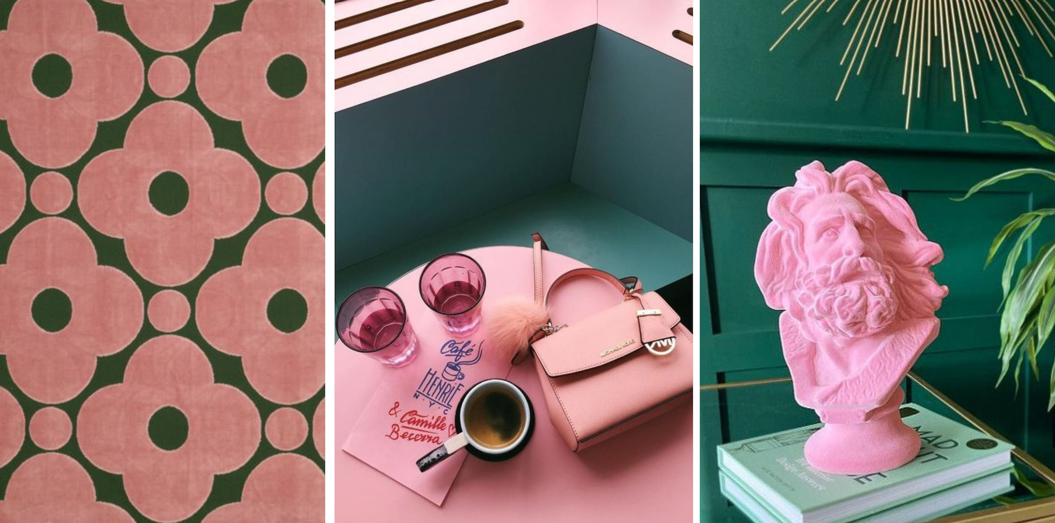 The Bargello Edit - Pink and green colour inspiration