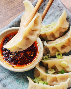 Frozen Pork & Coriander Dumpling Meal for Two & Dipping Sauces