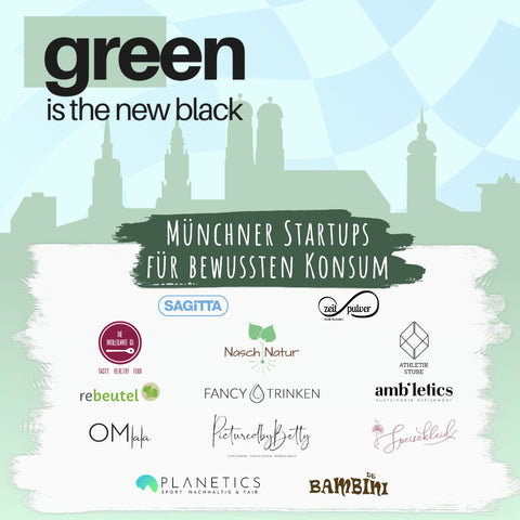 Green is the new black header image with all logos