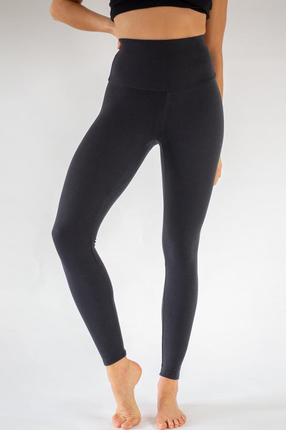 Black Lyocell Yoga Leggings