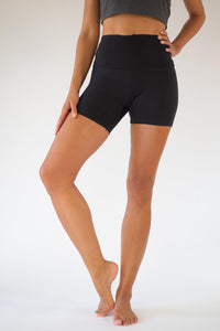 Black Lyocell Yoga Shorts