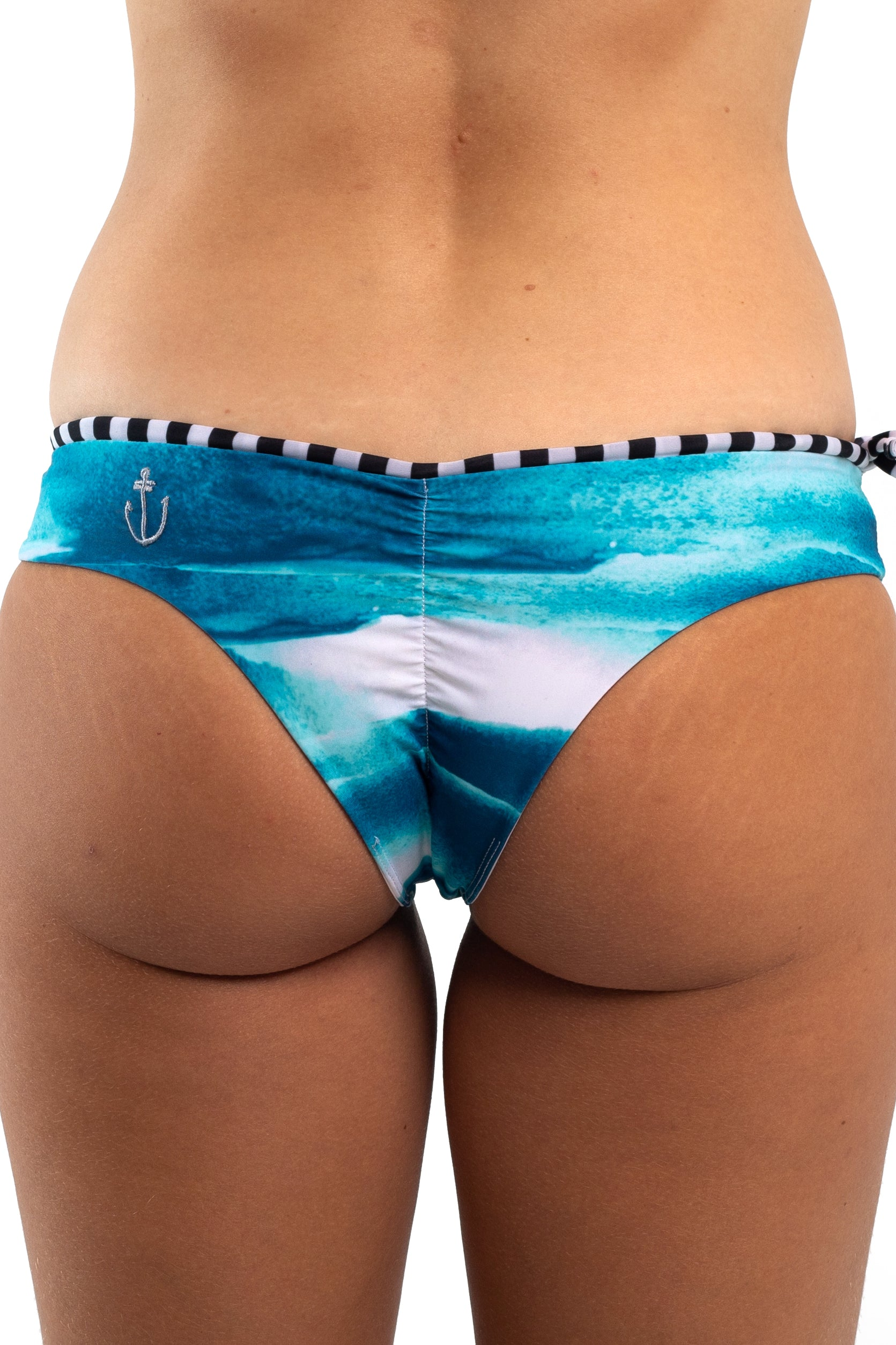 RECYCLED//BRAZILIAN SURF BIKINI BOTTOMS Shades of Blue