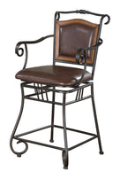 Brown Traditional Counter-Height  Stool (Set 1) - Furniture Lobby
