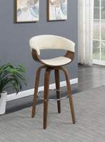 Contemporary Walnut and Cream Bar Stool (Set 1) - Furniture Lobby