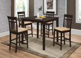 Casual Cappuccino Five-Piece Dining Set - Furniture Lobby