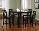 Transitional Black Five-Piece Dining Set - Furniture Lobby