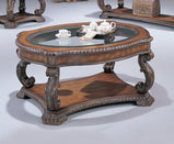 Garroway Traditional Brown Coffee Table - Furniture Lobby
