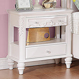 Caroline White Nightstand - Furniture Lobby