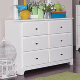 Ashton Transitional White Dresser - Furniture Lobby