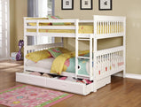 Chapman Traditional White Full-over-Full Bunk Bed - Furniture Lobby