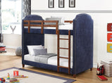 Charlene Traditional Navy Twin-over-Twin Bunk Bed - Furniture Lobby