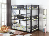 Casual Black Twin Triple Bunk Bed - Furniture Lobby