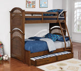 Halsted Casual Walnut Twin-over-Full Bunk Bed - Furniture Lobby