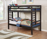 Hilshire Dark Grey Twin-over-Twin Bunk Bed - Furniture Lobby