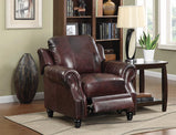 Princeton Traditional Burgundy Push Back Recliner - Furniture Lobby